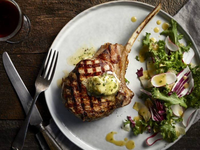 Tuscan Veal Chops with Herbed Butter