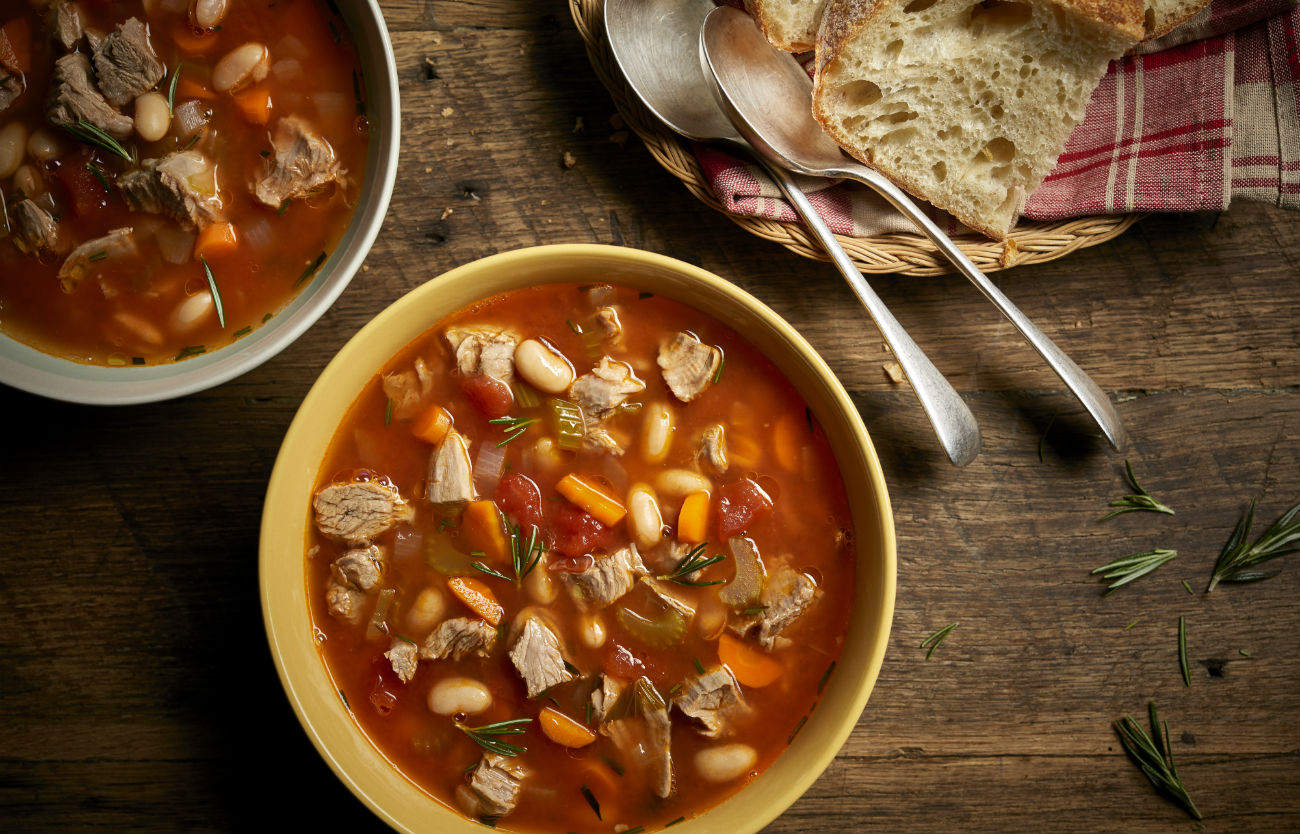 Veal Shank and Vegetable Soup